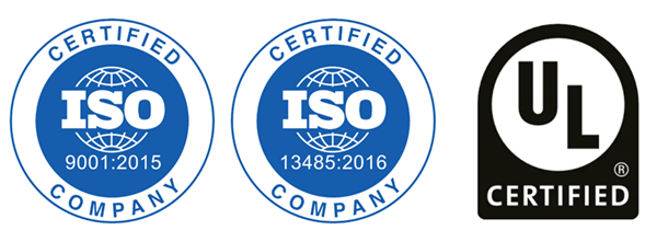 ISO and UL Certified